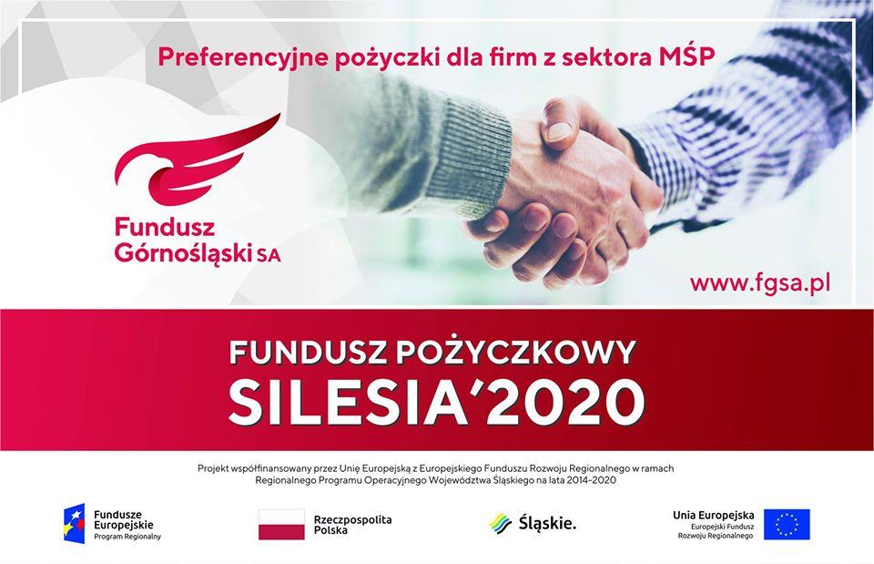 """Preferencyjne pożyczki zprojektu """"FUNDUSZ POŻYCZKOWY SILESIA'2020"""""""