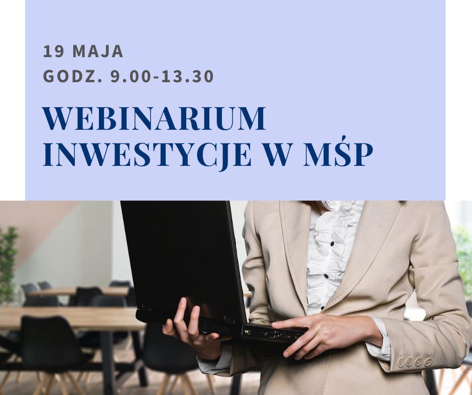 """Zapraszamy naWebinarium """"Śląski Pakiet dla Gospodarki"""""""
