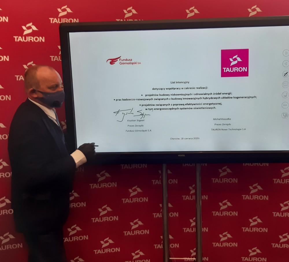 Podpisanie listu intencyjnego zTAURON Polska Energia