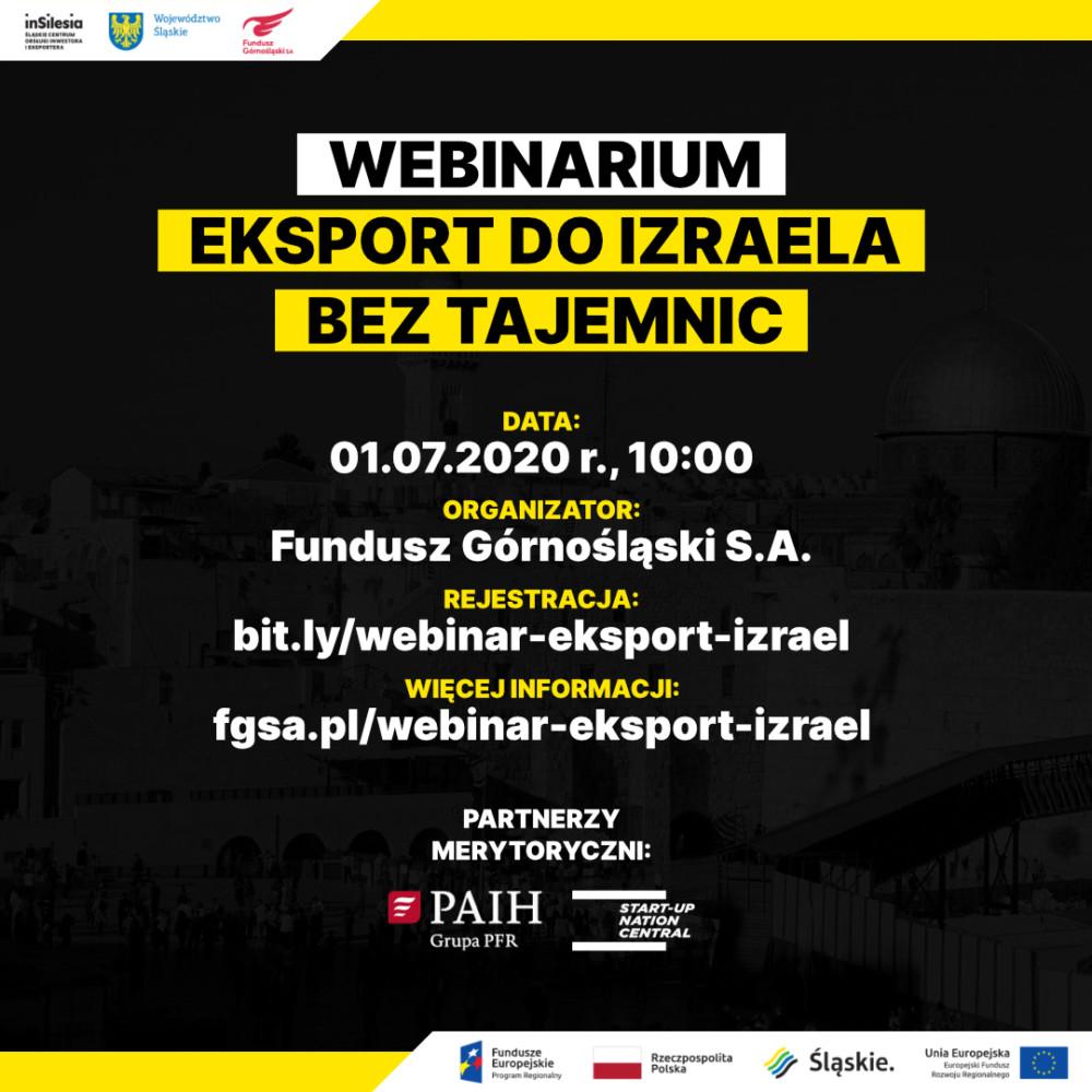 """Webinar """"Eksport do Izraela bez tajemnic"""""""