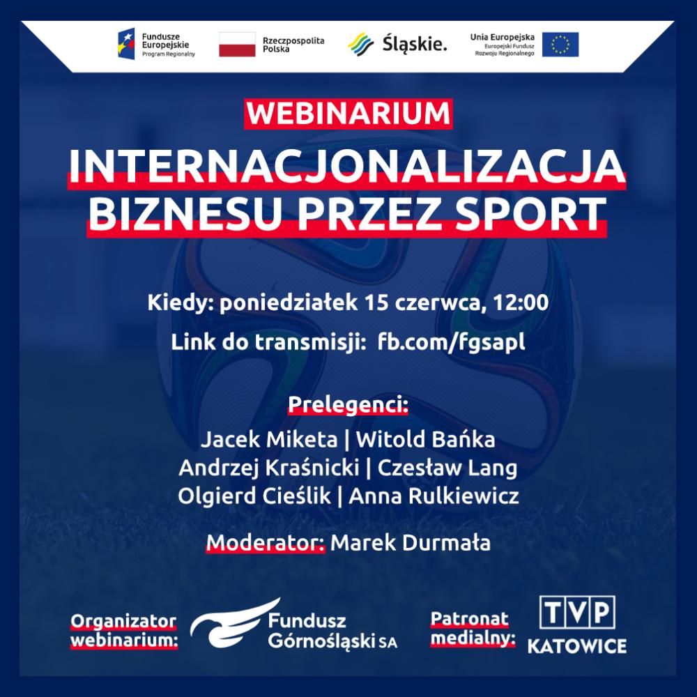 """Zapraszamy nawebinarium """"Internacjonalizacja biznesu przezsport"""""""