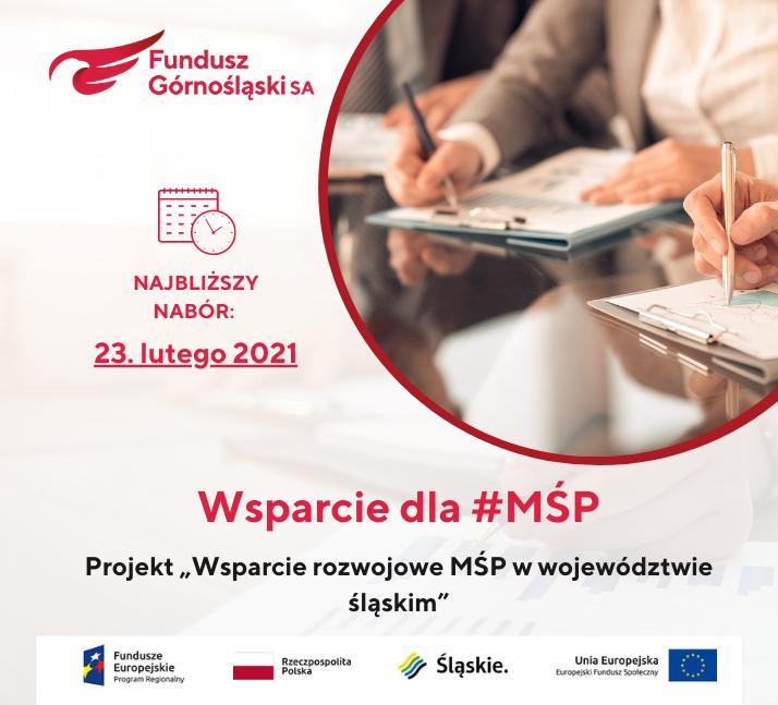 """Najbliższy nabór wniosków wprojekcie """"Wsparcie rozwojowe MŚP wwojewództwie śląskim"""""""