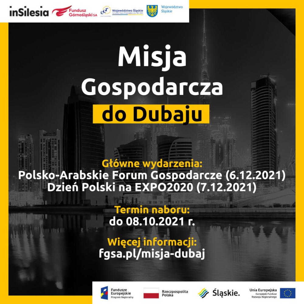 Zagraniczna Misja Gospodarcza doDubaju naPolsko-Arabskie Forum Gospodarcze – zapraszamy doudziału!